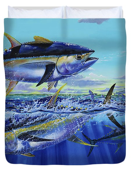 Yellowfin Bust Off0083 Duvet Cover by Carey Chen