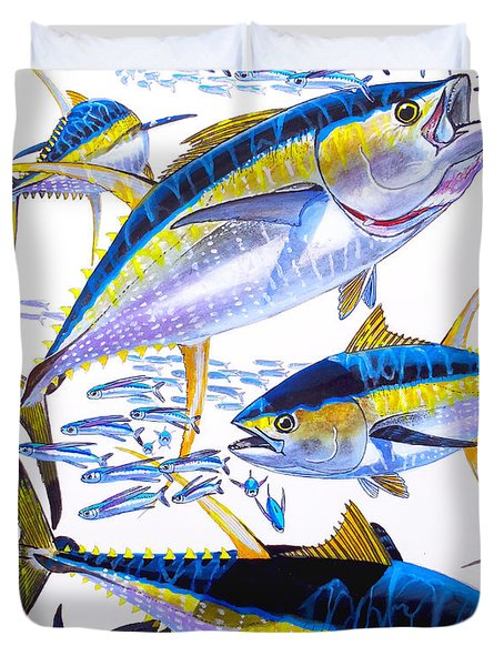 Yellowfin Run Duvet Cover by Carey Chen