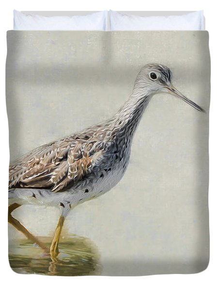 Yellowlegs Duvet Cover by Bill Wakeley