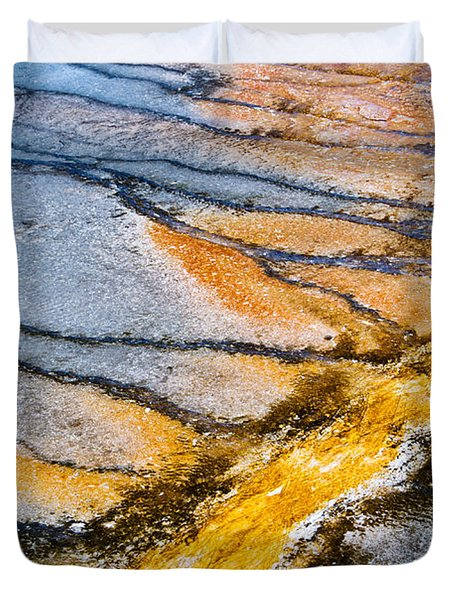 Yellowstone Abstract Duvet Cover