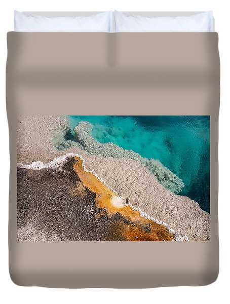 Yellowstone Abstract Duvet Cover by Sue Smith