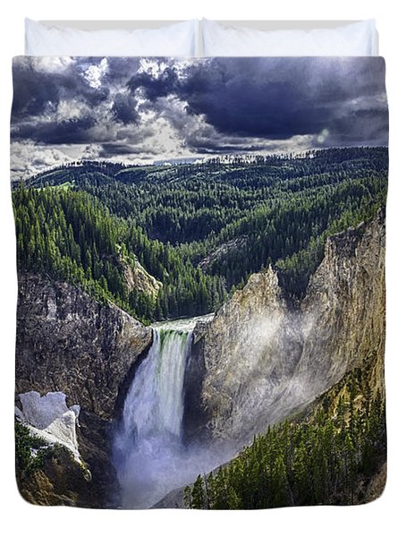 Yellowstone Canyon Lower Falls Duvet Cover