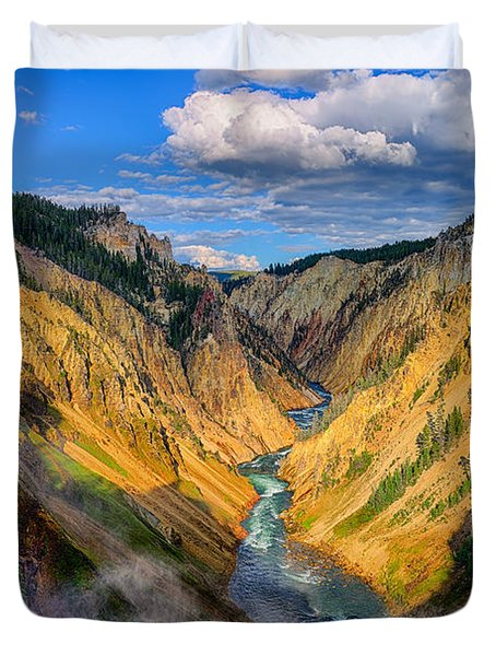 Yellowstone Canyon View Duvet Cover