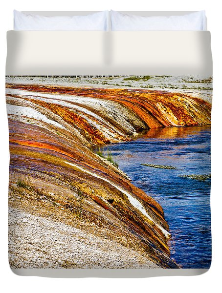 Yellowstone Earthtones Duvet Cover by Bill Gallagher