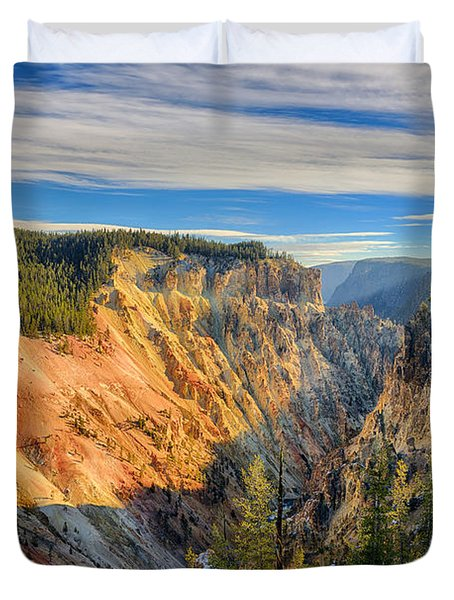 Yellowstone Grand Canyon East View Duvet Cover