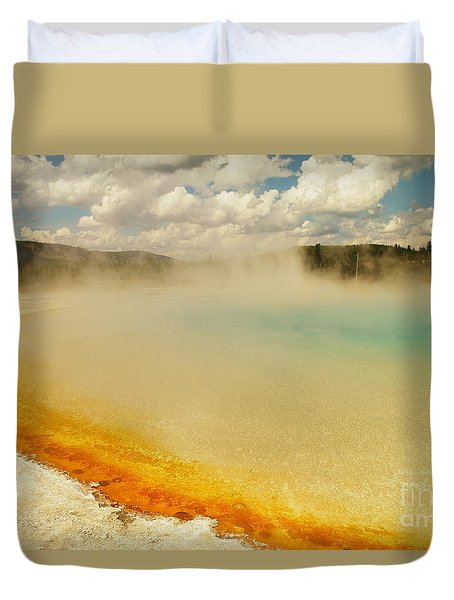 Yellowstone Hot Springs Duvet Cover by Jeff Swan