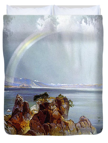 Yellowstone Lake 1875 Duvet Cover by Unknown