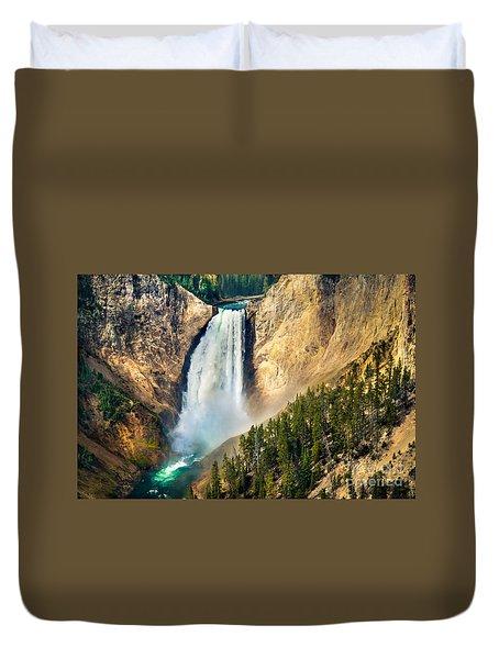 Yellowstone Lower Waterfalls Duvet Cover
