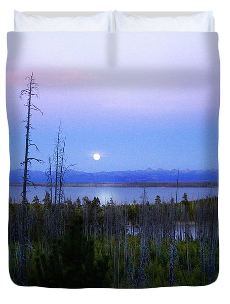 Yellowstone Moon Duvet Cover
