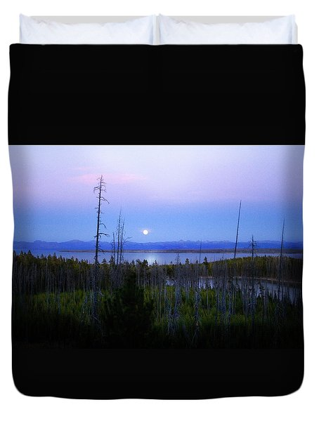 Yellowstone Moon Duvet Cover by Ann Lauwers