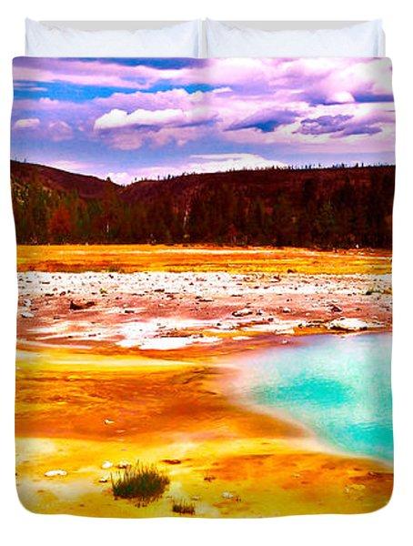 Yellowstone National Park Duvet Cover