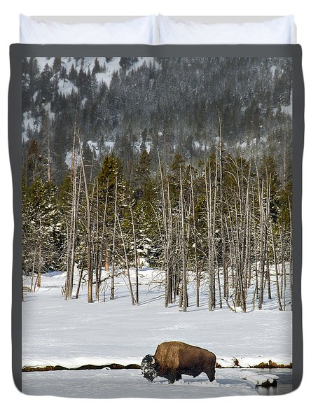 Yellowstone Winter Duvet Cover