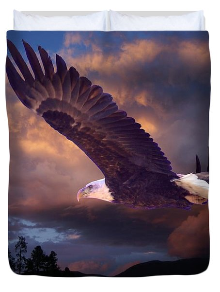 Yeshua Is Calling Duvet Cover by Bill Stephens