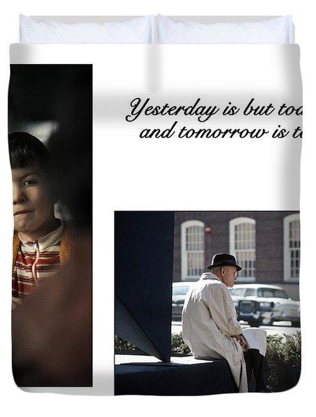 Yesterday Poster Duvet Cover