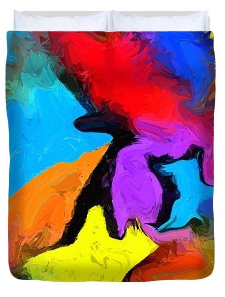 Yesterday's Rainbow Duvet Cover by Chris Butler