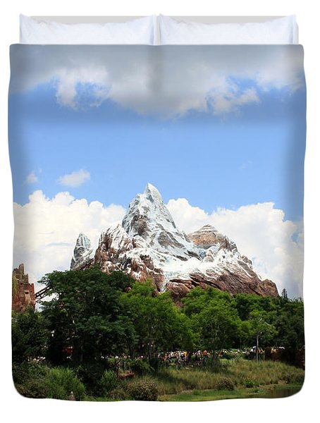Duvet Cover featuring the photograph Yeti Country by David Nicholls