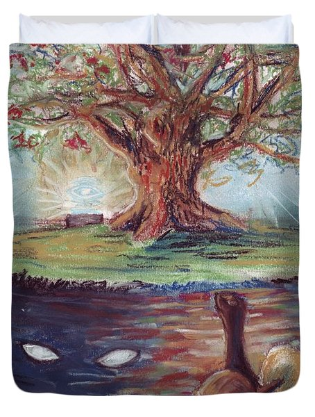 Yggdrasil - The Last Refuge Duvet Cover by Samantha Geernaert