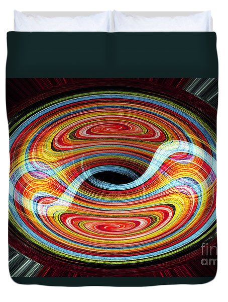Yin And Yang - Abstract Duvet Cover
