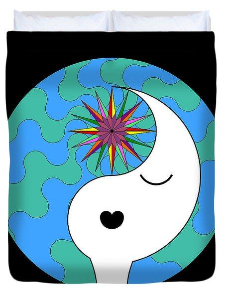 Yin Yang Crown 4 Duvet Cover