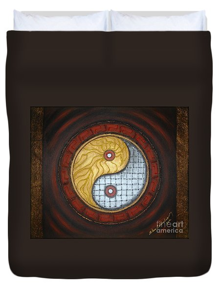 Yin Yang  Duvet Cover by Elena  Constantinescu