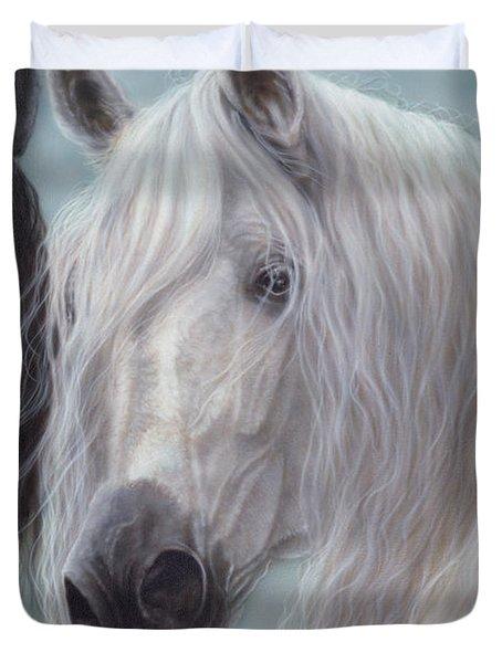 Yin-yang Horses  Duvet Cover