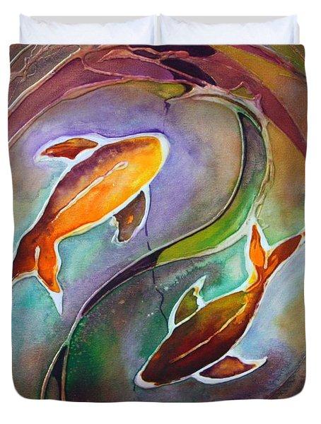 Ying Yang Duvet Cover by Pat Purdy