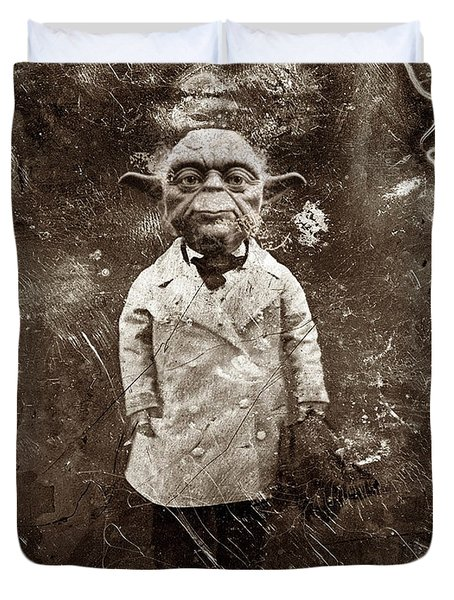 Yoda Star Wars Antique Photo Duvet Cover