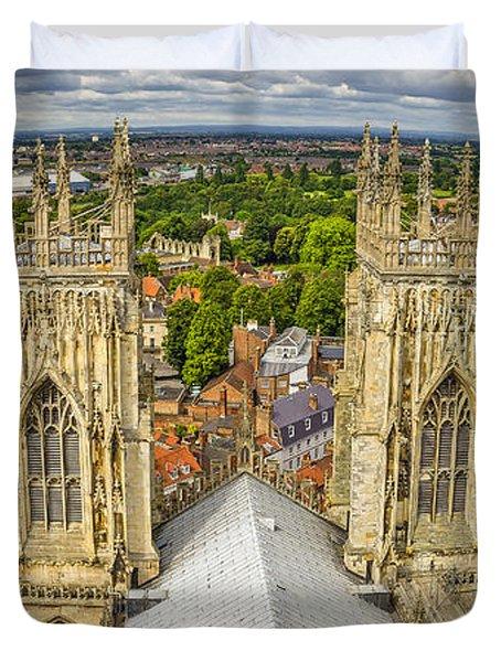 York From York Minster Tower Duvet Cover