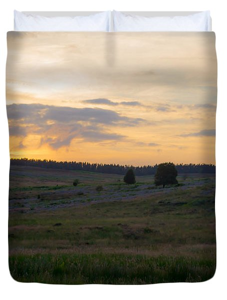 Yorkshire - Sheepwash Osmotherley Duvet Cover by Scott Lyons