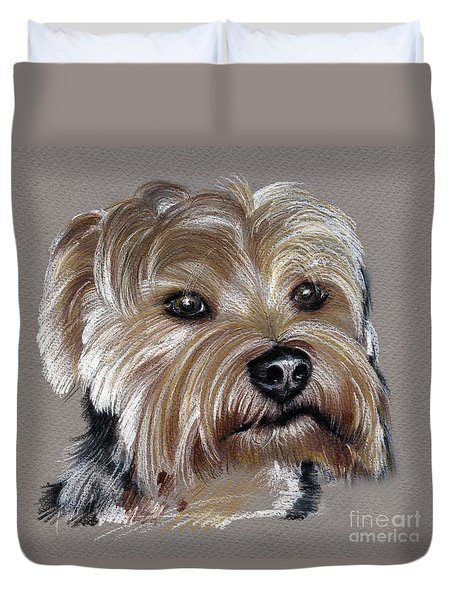 Yorkshire Terrier- Drawing Duvet Cover