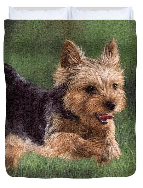 Yorkshire Terrier Painting Duvet Cover