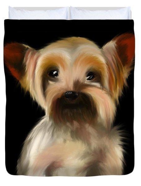 Yorkshire Terrier Pup Duvet Cover