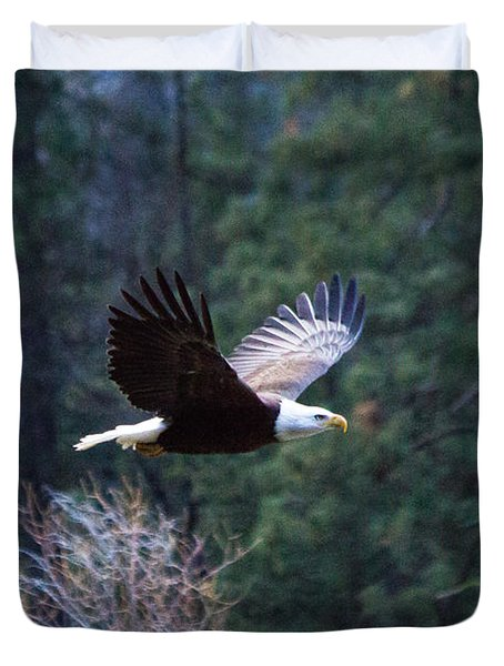Yosemite Bald Eagle Duvet Cover
