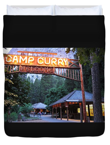 Yosemite Curry Village Duvet Cover
