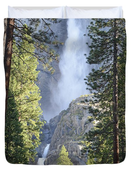 Yosemite Falls In Morning Splendor Duvet Cover
