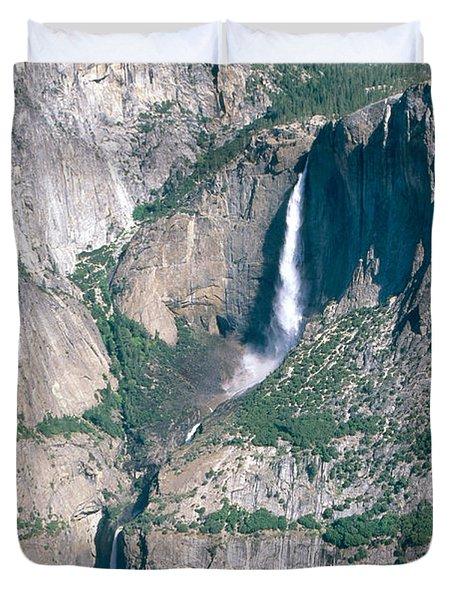 Yosemite Falls Duvet Cover by Mark Newman