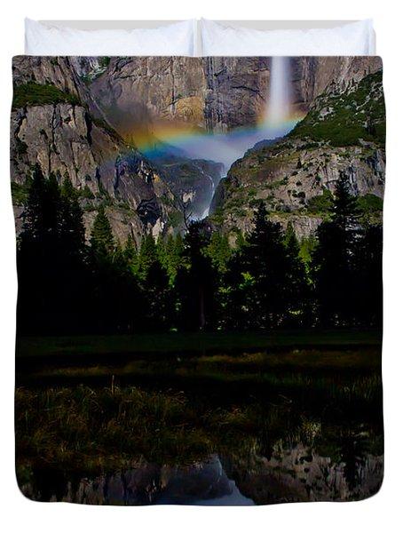 Yosemite Moonbow Duvet Cover