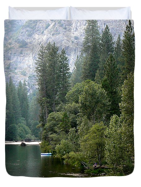 Duvet Cover featuring the photograph Yosemite National Park by Laurel Powell