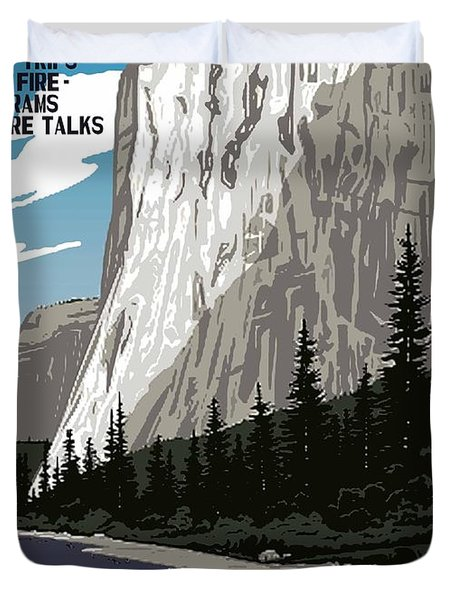 Yosemite National Park Vintage Poster 2 Duvet Cover