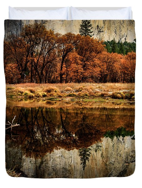 Yosemite Reflections Duvet Cover