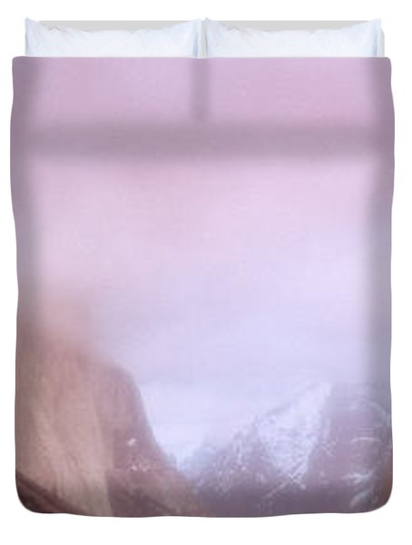 Yosemite Valley Ca Usa Duvet Cover by Panoramic Images