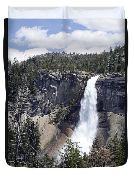 Yosemite's Nevada Fall Duvet Cover