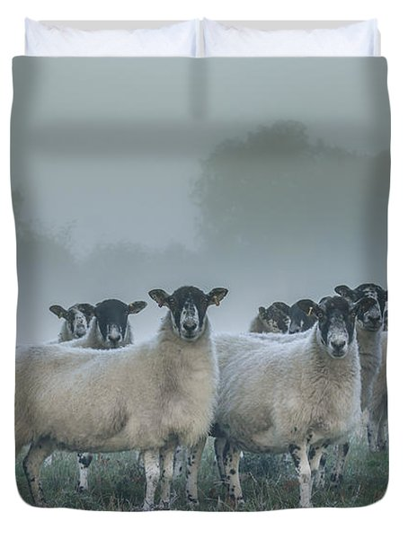 You And Ewes Army? Duvet Cover by Chris Fletcher