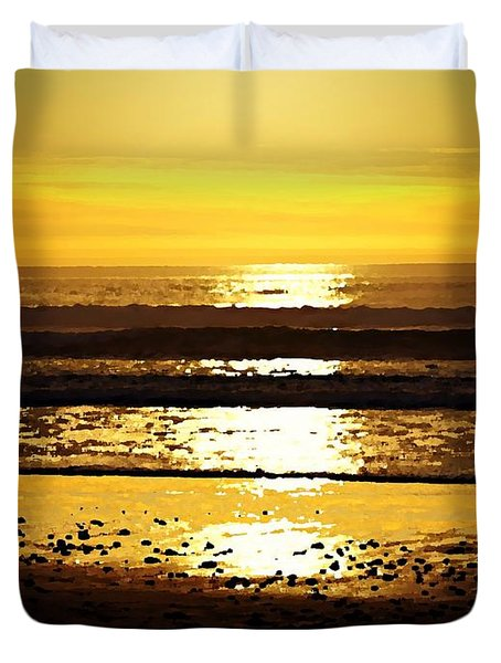 You Are The Salt Of The Earth And The Light Of The World Duvet Cover by Sharon Soberon