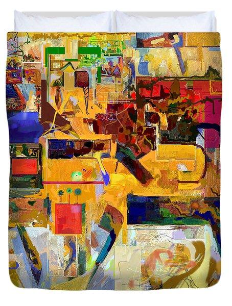 You Graciously Endow Man With Wisdom 16f Duvet Cover by David Baruch Wolk