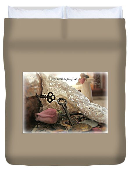 You Hold The Key To My Heart Duvet Cover by Katie Wing Vigil