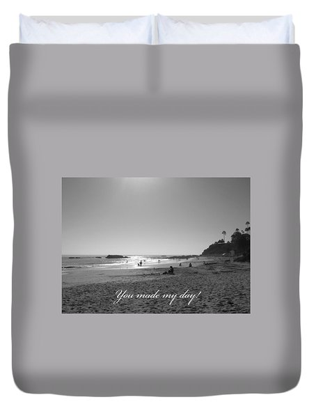 Duvet Cover featuring the photograph You Made My Day by Connie Fox