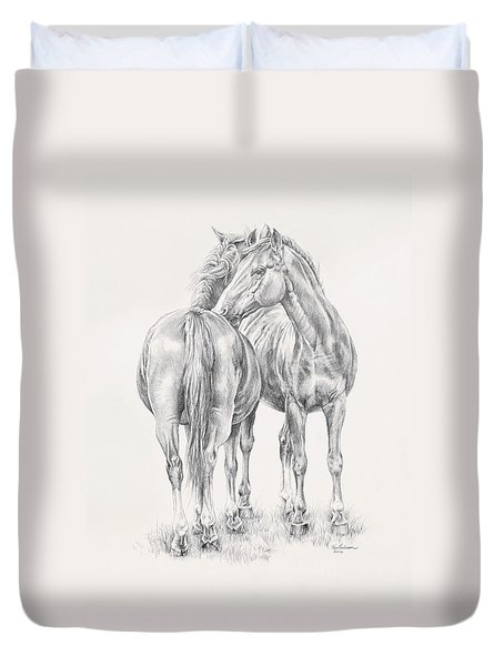 You Scratch My Back I'll Scratch Yours Duvet Cover