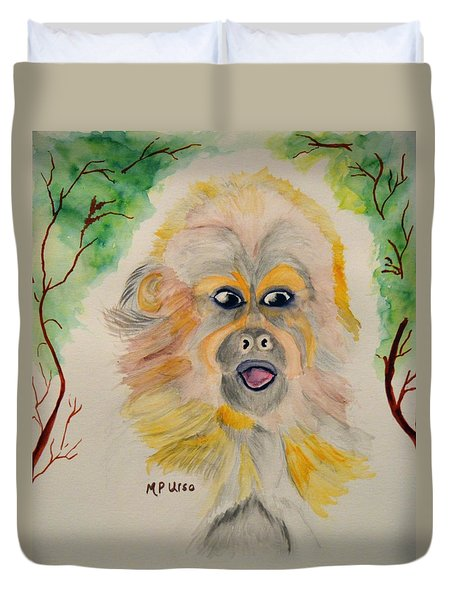You Silly Monkey Duvet Cover by Maria Urso
