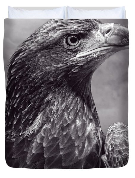 Young Bald Eagle V3 Duvet Cover by F Leblanc